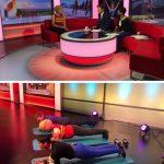 Eddie being interviewed on BBC Breakfast by Naga Munchetty and Charlie Stayt.