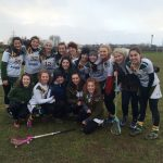 Sabrina, as captain of the Ladies Lacrosse 2nd Team, after an emotional win against Loughborough