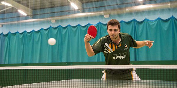 UoN student playing table tennis