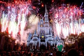 New Years fireworks at Disney - I saw them one year but this isn't my photo because my camera isn't this good