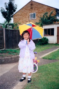 So what is the weather forecast for today Kiran? Well I am dressed for the summer but am also fashioning an umbrella so it's hard to say...