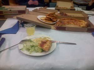 Loads of pizza