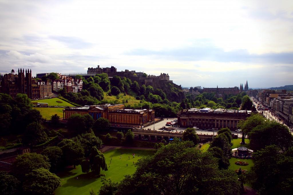 View of Edinburgh from th Scott Monument.