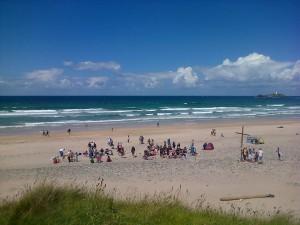 Cheeky beach baptisms