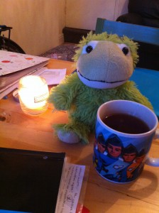 Because tea=life fuel and microwaveable teddy=revision buddy