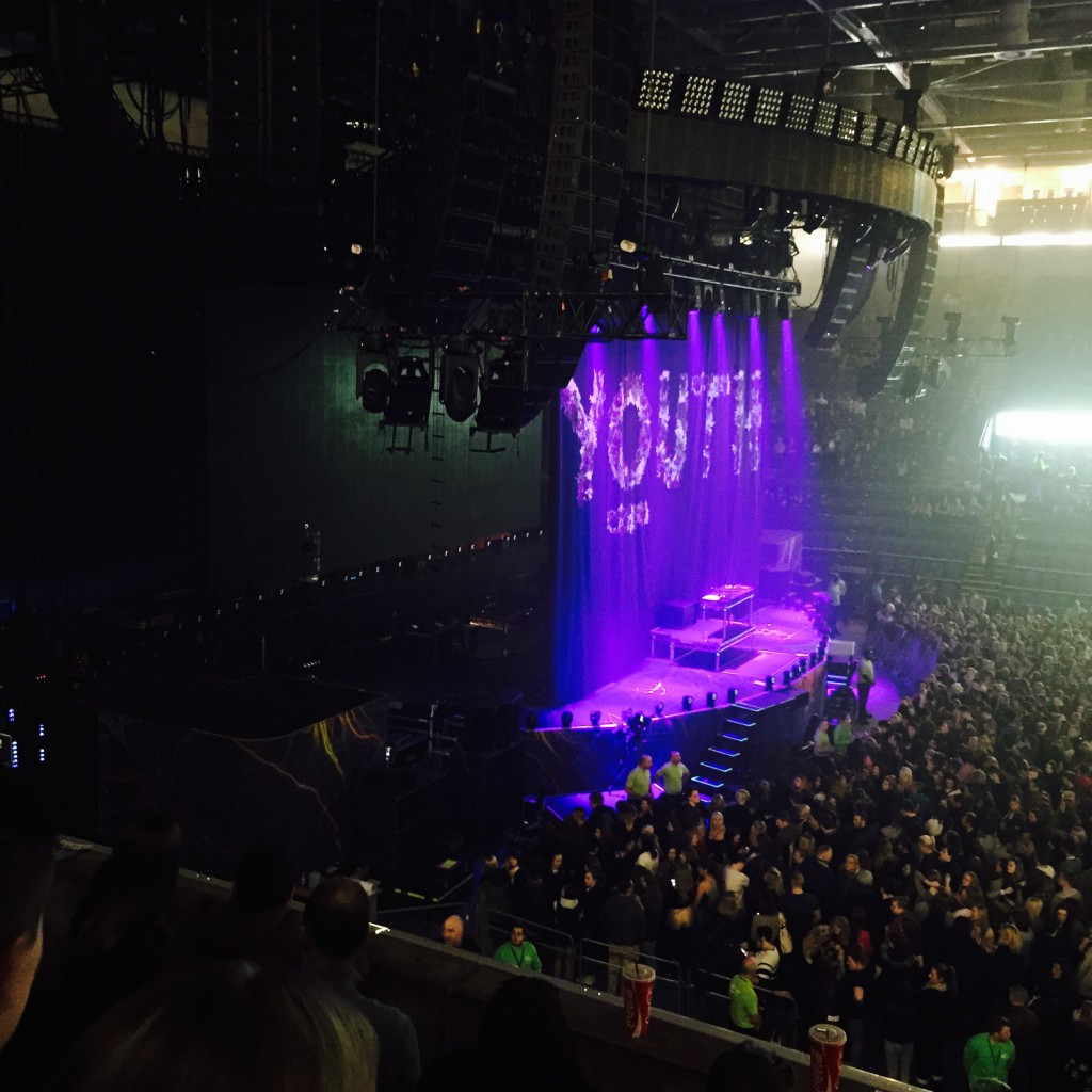 Pretty sweet view of the stage!