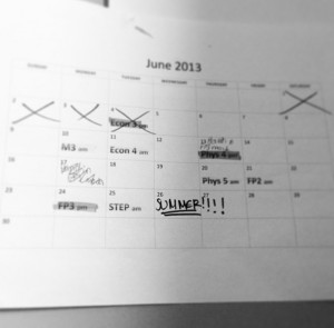 To think I finished over a month during my A levels, in comparison to when I finish now.