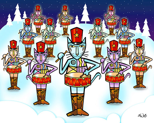 the 12 days of christmas uni 12 drummers drumming - 12 Day Of Christmas