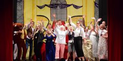 The comfort zone hokey cokey -The cast of the SB Players Christmas Pantomime waves from the stage as the curtains close.