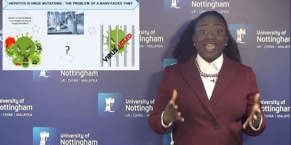 Chidinma presenting her 3MT