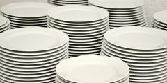 washing up tip - Many stacks of plates