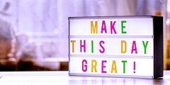 """Poster with the motivational phrase """"Make this Day Great"""""""