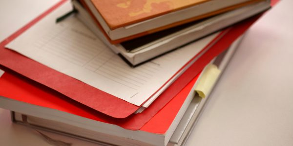 Books and Notepads - an image to outline the need for self care