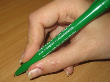 Keep Calm and Go Green pen