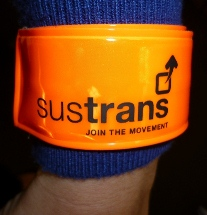 Reflective slap band, with Sustrans logo