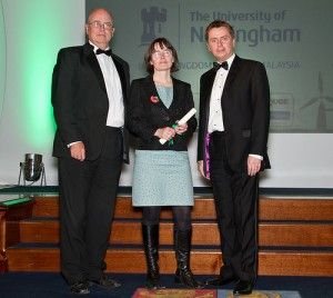 Dr Sarah Speight and Andy Beggan receiving their commendation