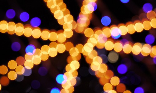 Abstract christmas tree lights in star shape (Image credit: Marius Muscalu, Flickr)