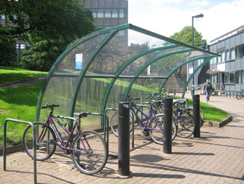 There's plenty of places to store your bike on University Park