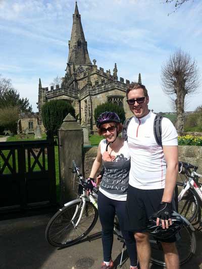 Myself and Chris outside Horsley Church.