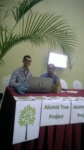 UNMC Environment Committee interns at the UNMC Alumni office boot at the Graduation Ceremony