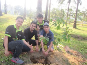 SA Sustainability Officer, joining Nature Club for tree planting event.