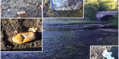 Plastic pollution at the source of the River Trent
