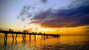 Sunset from Glenelg beach