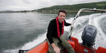 Racing up and down the Firth of Clyde on a RIB