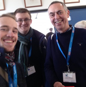 Fun in the Northern Isles: Tom Fox (left), Tom Fowler (centre) and David Osbourne (also UoN)