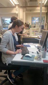 Taking samples and examining data at BGS