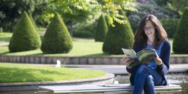 Georgina Endfield in the Millennium Garden, University Park