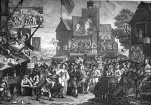 William Hogarth (1697-1764), Southwark Fair (or The Humours of a Fair), January 1733.