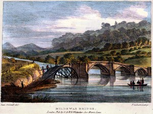 Buildwas Bridge, Shropshire, Thomas Harral, Picturesque Views of the Severn, 1824