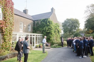 The owner, Prof Robin Grove-White welcomes visitors to Brynddu (c) Vince Jones / C3W