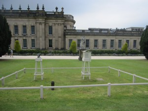 Photograph of the weather station at Chatsworth House, Derbyshire.