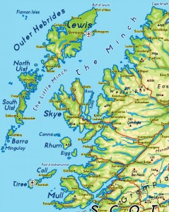 Map showing the northwest Scotland case study region and the location of Stornoway.