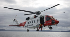 Photograph of the current Stornoway coastguard search and rescue helicopter.