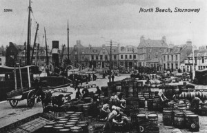 Photograph of North Beach, Stornoway in the late nineteenth or early twentieth century.
