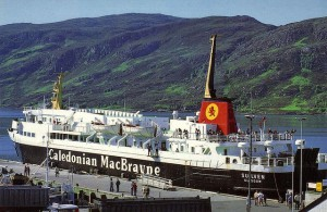 Photographs of the Caledonian MacBrayne ferry, M.V. Suilven. There is a youtube video which shows the M.V. Suilven in service with Strait Shipping in New Zealand to whom she was sold by Calmac in 1995. She operated a service between Wellington and Picton, before being transferred to the Wellington to Nelson service in late 2002. She was sold in April 2004 and is now based in Fiji.
