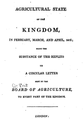 Agricultural State of the Kingdom, 1816