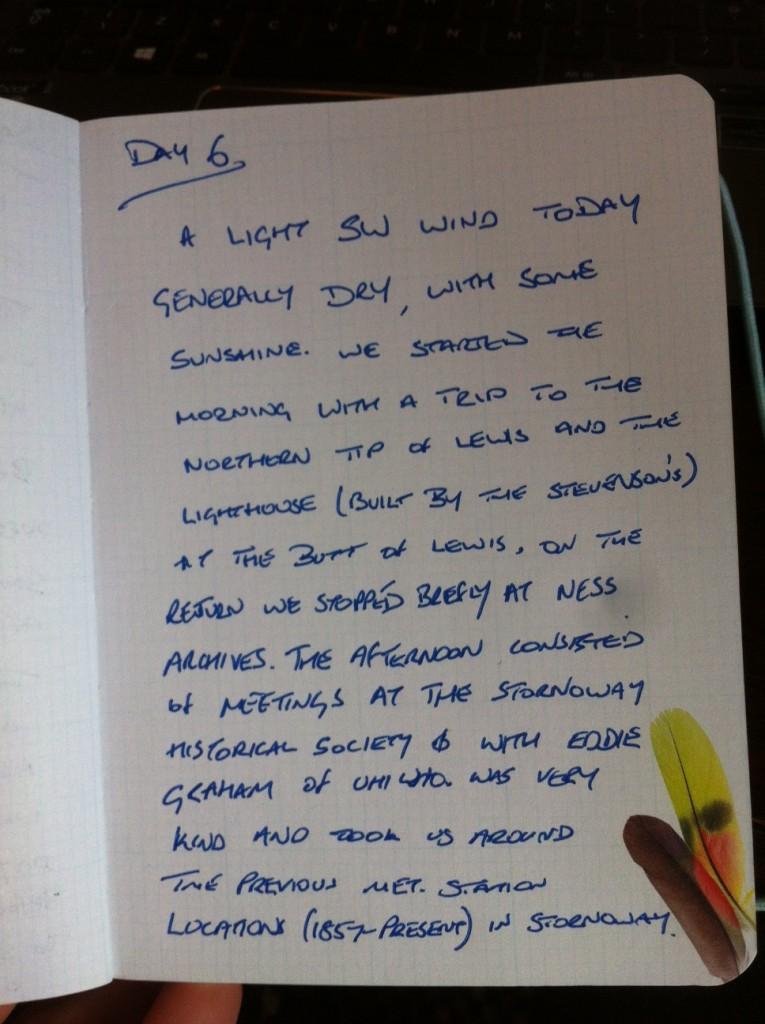 Day 6 diary