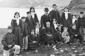 The school children of St Kilda in 1890.