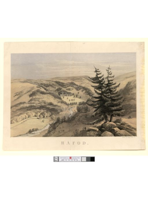 Hafod, Kell bros. lithograph, c. 1860-72 ©National Library of Wales