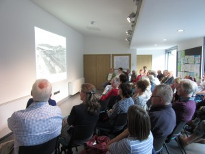 The audience attending the public engagement event at the new Lews Castle Museum, Stornoway.