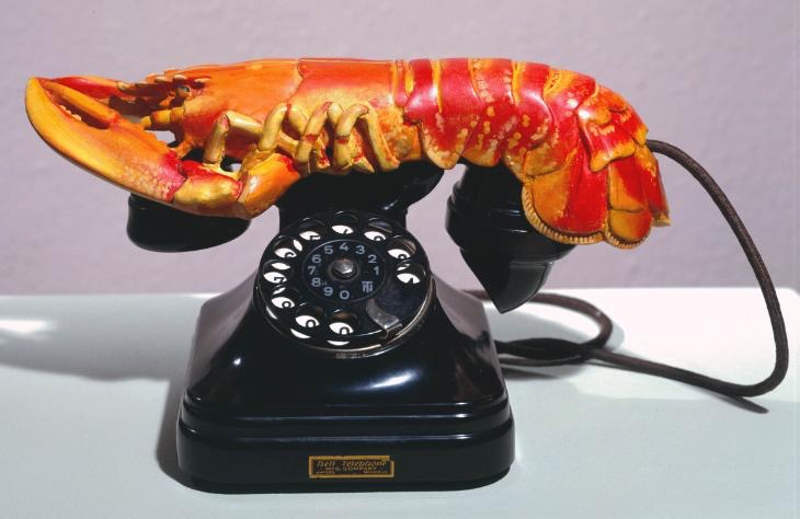 Fig 3. Lobster Telephone, Salvador Dalí, 1936, © Salvador Dali, Gala-Salvador Dali Foundation/DACS, London 2016. Compare with the abject image in the chorus of Eliot's Murder in the Cathedral (1935): 'I have tasted   The living lobster, the crab, the oyster, the whelk and the prawn.' Photo credit: © Tate, London [2016] .