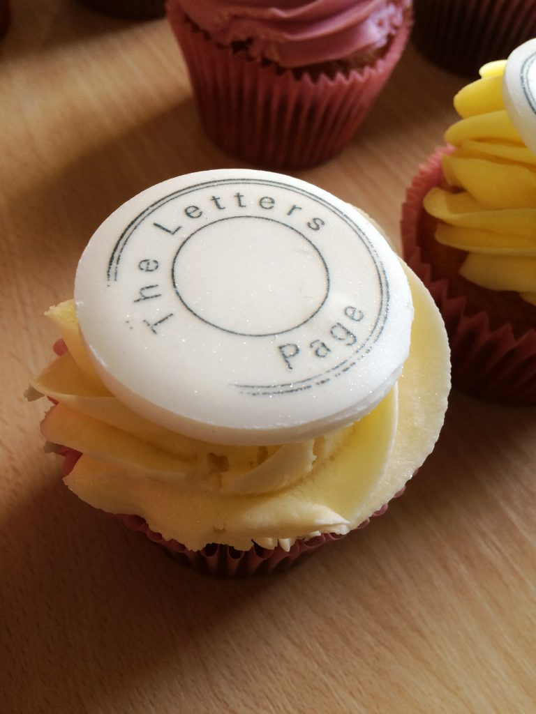 Letters Page cupcake